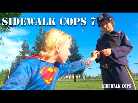 Sidewalk Cops Episode 7 - Superman Flying And Texting!