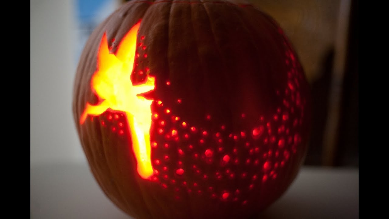 Tinkerbell pumpkin carve time lapse youtube