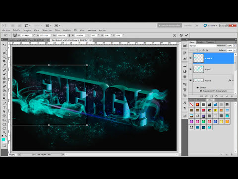 Tutorial Photoshop: Texto 3d de colores (translated)