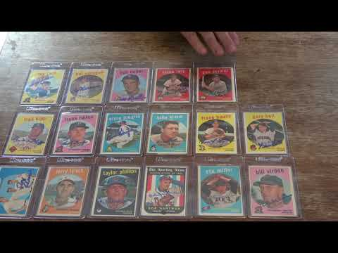This video shows some CLASSIC, vintage autographed 1959 Topps baseball cards that we have in our collection. Give us a thumbs up, subscribe to our channel, keep collecting and God Bless.