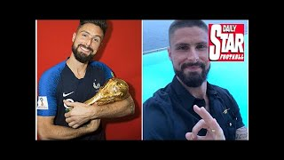 France's Giroud shaves his head to honour pre-World Cup pledge