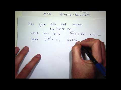 Wave equation + Fourier series + Separation of variables