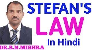 Dr.B.N.MISHRA (STEFAN'S LAW in Hindi)