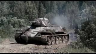 Finnish (captured Soviet) T-34 + KV-1 tanks Soviet positions