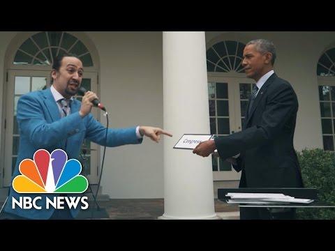 'Hamilton' Creator Lin-Manuel Miranda Freestyle Raps With President Obama | NBC News