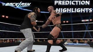 WWE 2K16 Randy Orton vs Bray Wyatt   Backlash 2016 - Prediciton Highlights