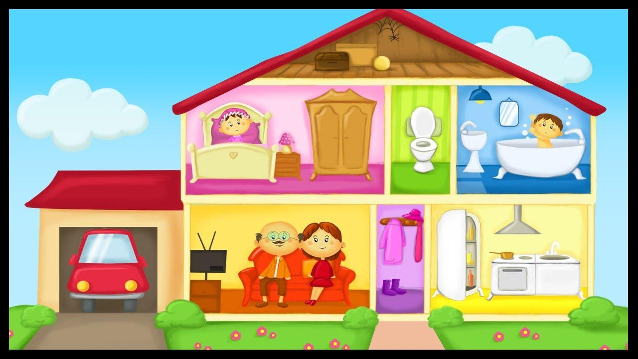 Apprendre le vocabulaire de la maison youtube - Piece de la maison en c ...