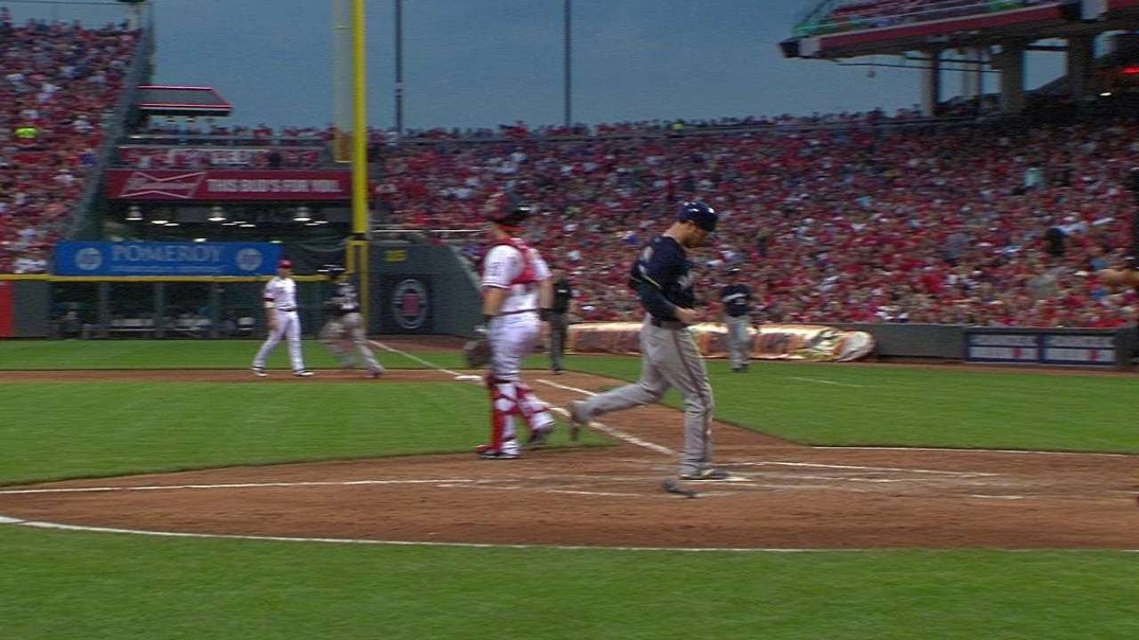 MIL@CIN: Gomez singles in Lucroy to extend the lead