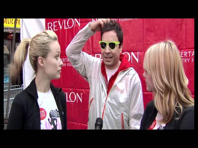 Jimmy Fallon, Emma Stone & Olivia Wilde @ Revlon Walk Run For Women NYC
