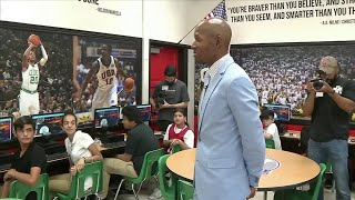 Ray Allen donates computer lab to students in Miami Beach