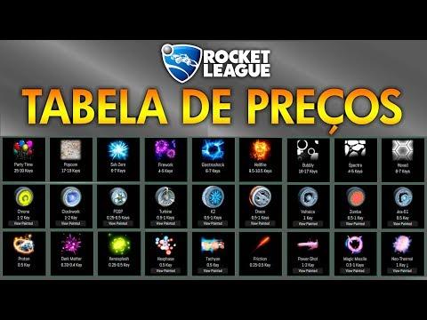 A MELHOR TABELA DE PREÇOS DO ROCKET LEAGUE? (PS4, Xbox One, PC)