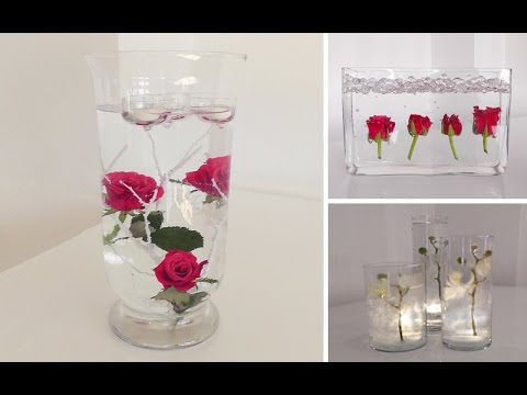 diy centerpiece f r tisch deko unterwasser blumen deko kitchen youtube. Black Bedroom Furniture Sets. Home Design Ideas