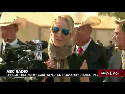 Law enforcement officials hold news conference on Texas church shooting