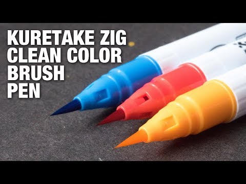 Review: Kuretake Zig Clean Color Brush Pen
