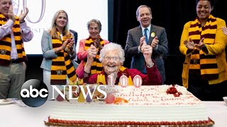 Loyola-Chicago holds 100th birthday party for superfan Sister Jean