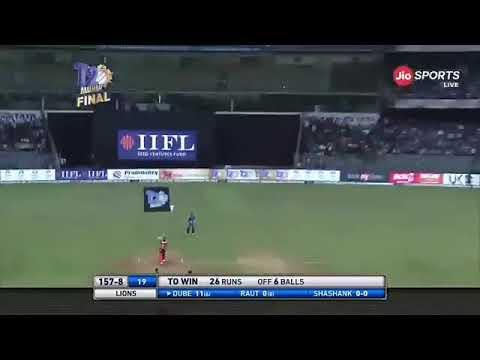 Sibam dubey mumbai premier league final match final over bating