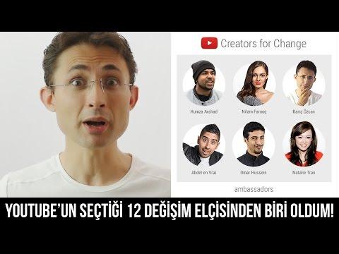 YouTube'un seçtiği 12 değişim elçisinden biri oldum #CreatorsforChange