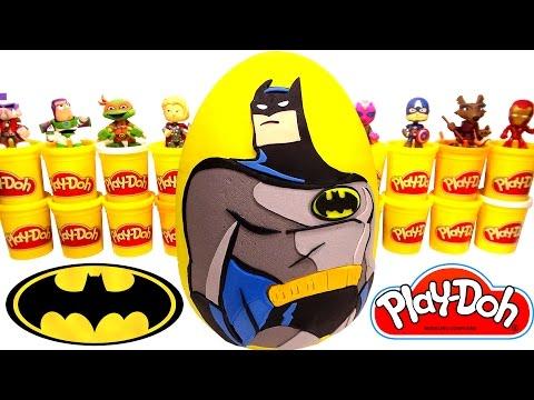 Batman Sürpriz Yumurta Oyun Hamuru - Galaksinin Koruyucuları Ironman Transformers Spiderman