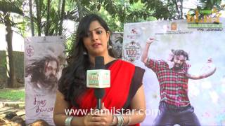 Varalaxmi Sarathkumar At Tharai Thappattai Team Interview