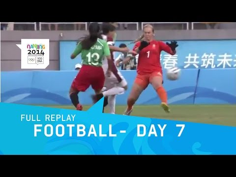 Football - Venezuela v Mexico Women's Semi Final | Full Replay | Nanjing 2014 Youth Olympic Games