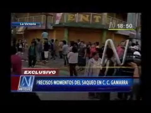 Enfrentamiento en la Parada, Saqueos en Gamarra