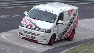 TOP GEAR VAN RECORD BEATEN! VW T5 Transporter beats Sabine Schmitzs lap record on the Nürburgring!