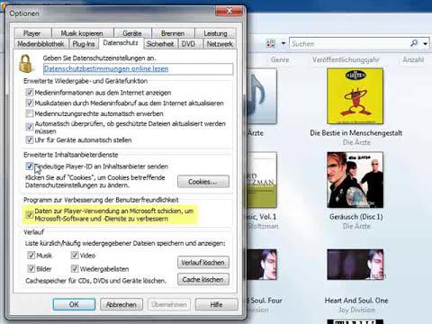 Windows Media Player - Spionagefunktion deaktivieren - TUTORIAL