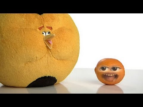 Little ANNOYING ORANGE vs. ANGRY BIRDS & The Plush Orange Bird