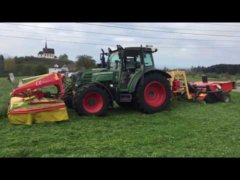 Fendt 211 vario am Limit mit Pöttinger