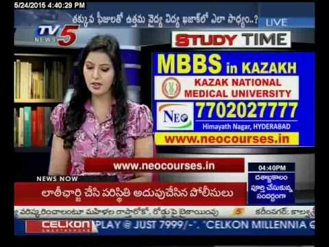 Study Time MBBS in Kazakh Kazakh National Medical University TV5 News 24 05 2015 by Raj