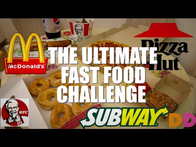THE ULTIMATE FAST FOOD CHALLENGE 8000 CALORIES