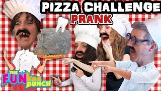 PIZZA Challenge PRANK! REVENGE ON MOM w/ ROCKS! Ouch! (FUNkee Bunch Chefs)