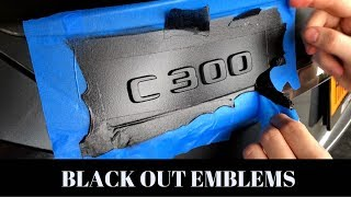 How To PROPERLY Plasti Dip Car Emblems / C300
