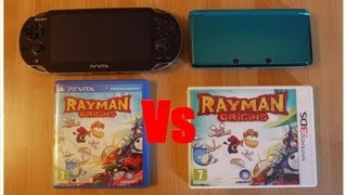 Rayman Origins Nintendo 3DS VS Rayman Origins Playstation Vita + Graphics + Sound + Speed