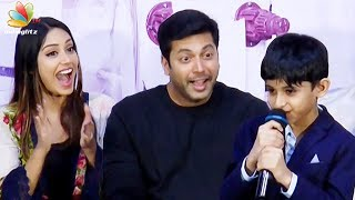 Hats off to myself! : Jayam Ravi's Son Cute Speech | Aarav, Nivetha Pethuraj | Tik Tik Tik