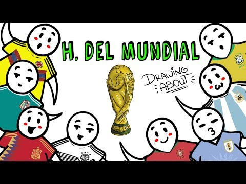 THE HISTORY OF  FOOTBALL WORLD CUPS 1930-2018 Draw My Life