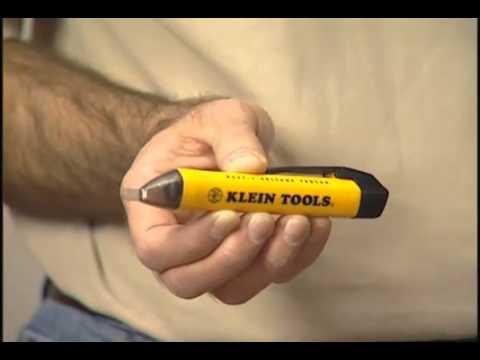 Probador de voltaje sin contacto de klein tools youtube - Detector de cables ...