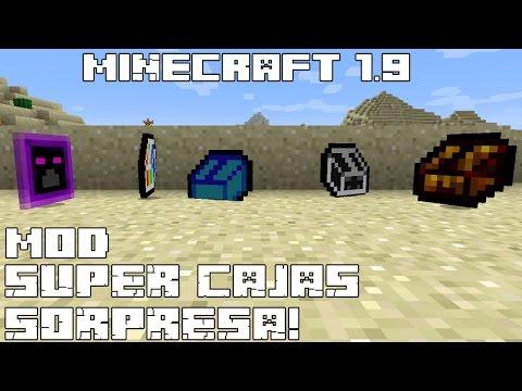 Minecraft 1.9 MOD SUPER CAJAS SORPRESA! LootMod Español!