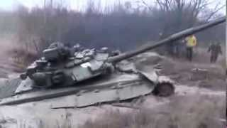 Russian tank T 90 [1000HP] stuck in the mud