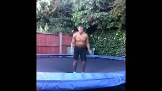 ANTHONY JOSHUA and KEV trampoline.