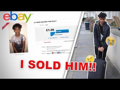 SELLING My 12 Year Old Brother FOR $1 ON EBAY *PRANK* (HE CRIES)