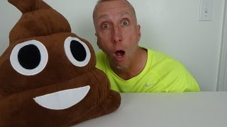 "Poopy The Emoji Meets Freak Daddy ""Toy Freaks Pet Poop"""