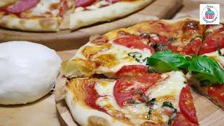 ПИЦЦА как в Пиццерии! Рецепт Теста для Пиццы, самое вкусное!! Классическая Пицца. Пицца Маргарита.