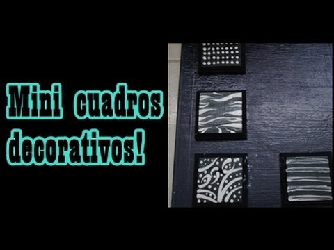 Cuadros decorativos f cil y sencillos youtube - Decorar paredes facil ...