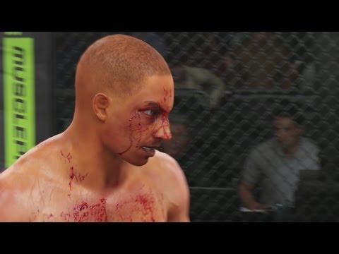 EA Sports UFC Career Mode - Kicking a Kickboxer!