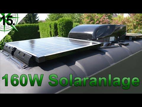 160W Solaranlage   vom VW T4 Syncro Transporter zum Camper   # 15.
