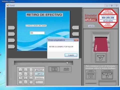 Cajero automatico en vb 2010 youtube for Como cobrar en un cajero automatico