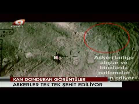 TSK-PKK heron`dan cekilmis canli Hantepe Catisma SKANDALí.