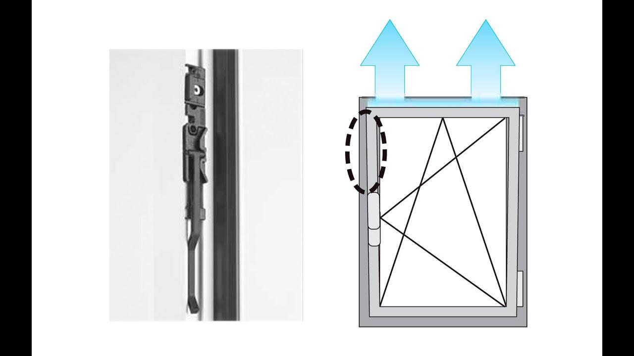 Как сделать пластиковое окно для микропроветривания