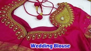 Download Wedding Blouse Cutting and Stitching | Making Video 3Gp Mp4
